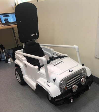 Toy car modified for accessibility
